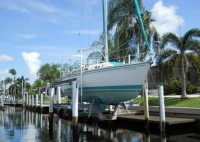 The sailboat sections of Punta Gorda Isles are prized by sailboat owners who want to like their boat at their dock.